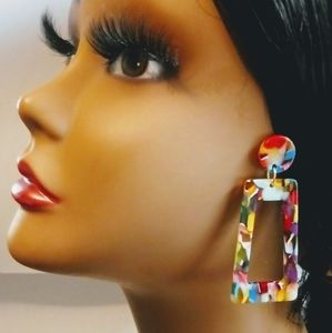 Beautiful Acrylic Multicolor Earrings